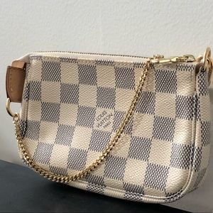 Louis Vuitton Damier Azur Mini Pochette Bag